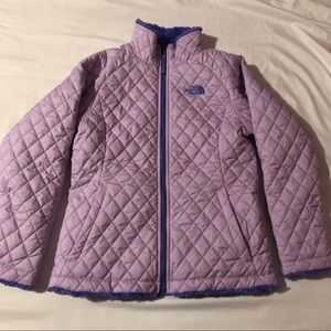 North face quilted reversible jacket